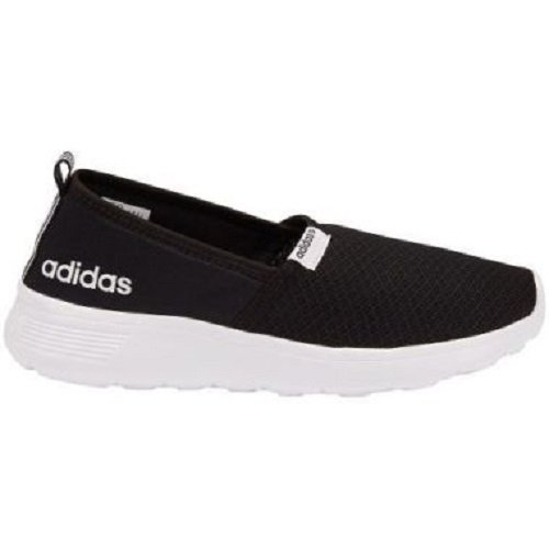Adidas NEO Women's Lite Racer Slip On W Casual Sneaker,Black/Black/White,8.5 M US