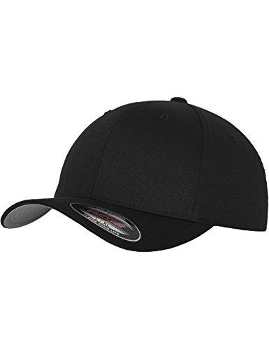 Flexfit - Cappello snapback, da adulto, modello wooly combed twill, Nero (nero), XXL