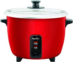 Pigeon Joy 1.0 SDX 1-Litre 400-Watt Rice Cooker (Red)