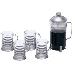 Wyndham House 1.06qt (1L) French Press Coffee/ Tea Set , FR COFFEE PLUNGER - 5PC SET from BF001