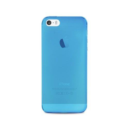 Puro IPC503BLUE Custodia Ultra-Slim iPhone 5/5S, Pellicola Protettiva Inclusa, Blu