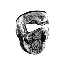 Zan Headgear Neoprene Face Mask - One size fits most/Glow In The Dark Skull
