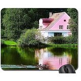 pink-house-by-the-lake-mouse-pad-mousepad-houses-mouse-pad