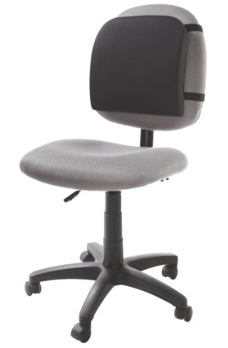 Kensington 82025 Memory Foam Backrest, 14-1/4w x 1-3/4d x 13-1/4h, Black