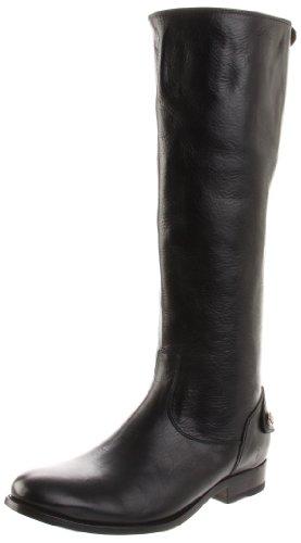 FRYE Women's Melissa Back Zip Knee-High Boot,Black,7.5 M US