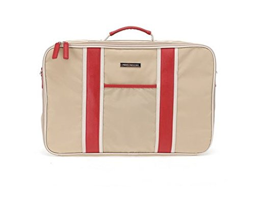 perry-mackin-water-resistant-nylon-weekender-travel-bag-beige-nylon-with-faux-leather-red-trim