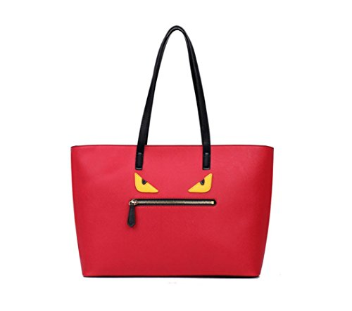 fendi-monster-tote-bag-red
