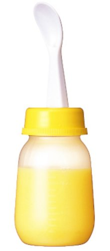 PIGEON Baby Weaning Bottle with Spoon - 1