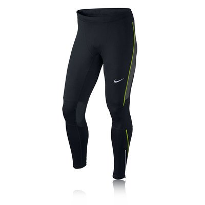 Nike Df Essential Collant da Corsa, Nero/Antracite/Volt, S