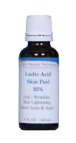 LACTIC Acid 85% Skin Chemical Peel- Alpha Hydroxy (AHA) For Acne, Skin Brightening, Wrinkles, Dry Skin, Age Spots, Uneven Skin Tone, Melasma & More (from Skin Beauty     Solutions)
