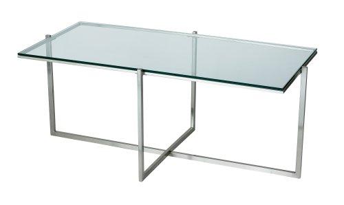 Adesso Glacier Coffee Table, Steel