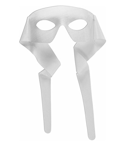 White large Masquerade Tie Mens Mask