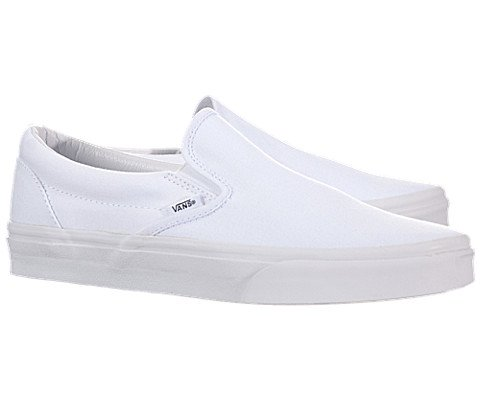 Details for Vans Adult Classic Slip On Sneakers - true white, men's 4.5, women's 6 from Zappos - FBZ setup