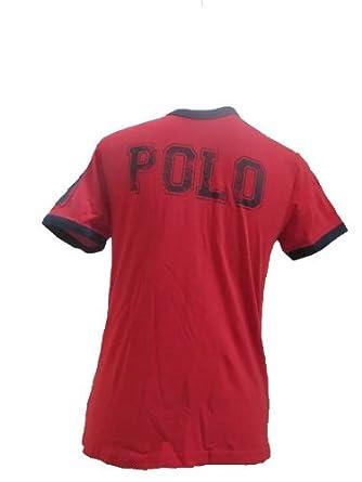Polo Ralph Lauren T-shirt Red Boys Size Medium ( 10-12 )