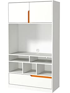 tv regal wandregal p5rujk64 kinderzimmer wei orange k che haushalt. Black Bedroom Furniture Sets. Home Design Ideas