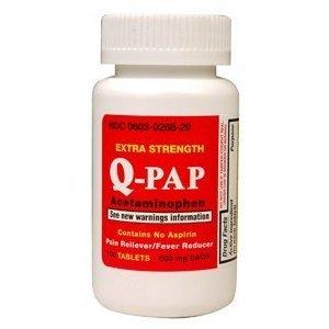 Amazon.com: Q-PAP Acetaminophn 500mg, 100 Ct (2 PACK): Health