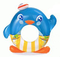 Cutie Panguin Ring Inflatable Pool Float - 1