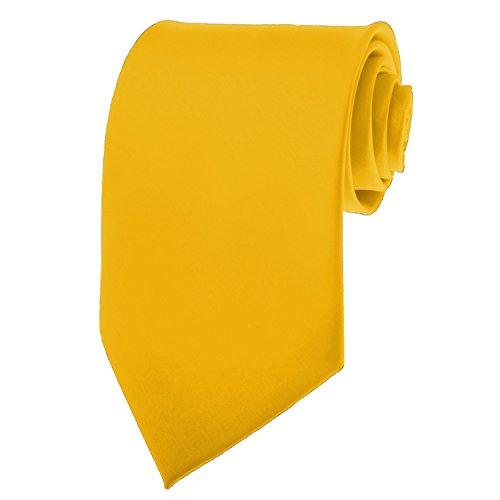 New Mens Solid Color Bright Gold Necktie Neck Tie (Men Ties Yellow compare prices)