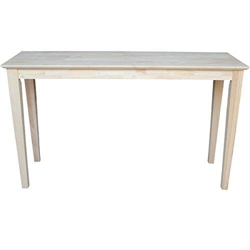 International concepts ot 9s shaker sofa table unfinished for Sofa table unfinished