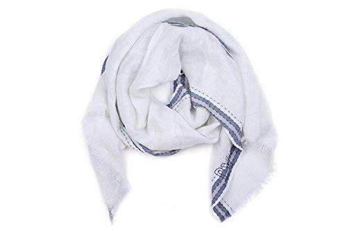 Armani Jeans sciarpa uomo in cotone bianco
