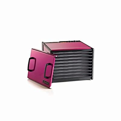 9 Tray Dehydrator with Timer Color: Raspberry from Excalibur
