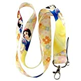 Snow White Keychain Lanyard (Color: White)