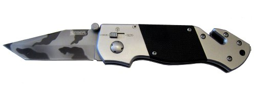 Seber RK1575CP Tanto Camo Polished Ratcheting Knife