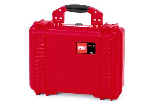 Plaber s.r.l HPRC 2400CR Hartschalenkoffer für Kameras, mit Schaumstoffauskleidung, Rot