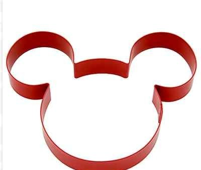 Disney Mickey Mouse Cookie Cutter,Red Metal,Mickey Mouse Head W/Ears,5