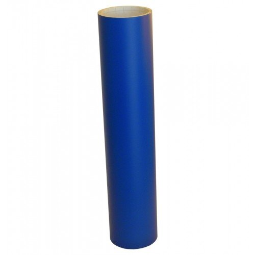Vinyl Oasis Craft & Hobby Vinyl - Matte Traffic Blue W/ Removable Adhesive - 12 In. X 20 Ft. Roll front-671435
