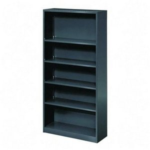 HON Metal Bookcase, 5 Shelves, 34-1/2 W by 12-5/8