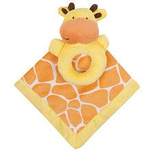 Carter's Snuggle Me Blankie & Rattle (Orange Giraffe) - 1