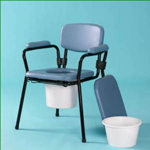Blue Comfort Commode - Adjustable