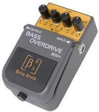 Chord BOD-1 Bass OVERDRIVE Pedal E-Bass-Effektgerät Volumenpedal Expressionpedal (robust, 9V Batterie-Betrieb, vierfach regelbar) grau