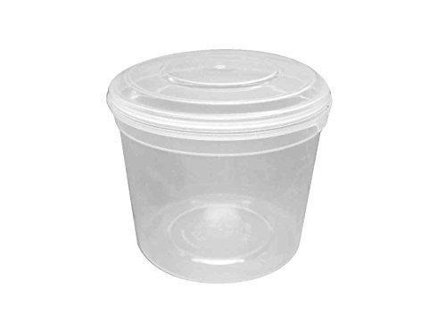 Choice-Pac 3So-1608 Polypropylene Round Tub With Lid, Semi-Clear, 16-Ounce (Case Of 300)
