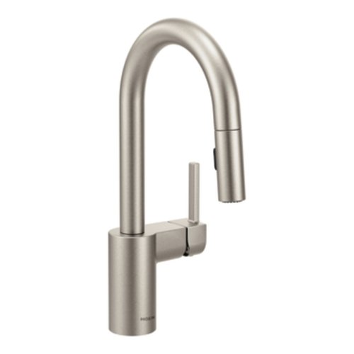 Read About Moen 5965SRS Align One-Handle High Arc Pulldown Bar Faucet, Spot Resist Stainless
