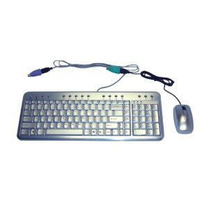 Ione Gemini N2 Aluminum Multimedia Keyboard W/ Optical Mouse Usb+Ps/2