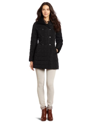 Trina Turk Women's Sophie Down Trench Coat, Black, Small