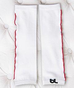 Baby Leggings Infant Toddler Leg Warmers White Red Ruffles