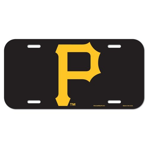 Pittsburgh Pirates MLB License Plastic Plate Vanity Car Graphics Baseball Sign Tag Officially Licensed MLB Merchandise