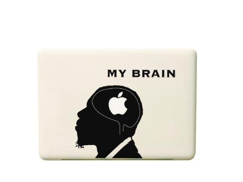 macbook用ステッカー MY BRAIN/ブラック iPad用近日発売! 送料無料!