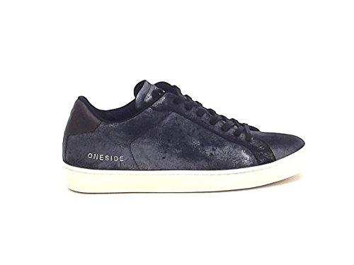 Leather Crown uomo, Moneside, sneakers camoscio nero nr 41 A6102