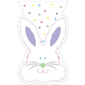 Paper Art Fun Bunny Shaped Cello Treat Bags Birthday or Easter Celebration Favors- 20 Count