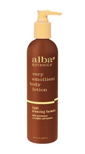 (6 Pack)-Alba Botanica Very Emollient Body Lotion, Light Bronzing Formula, 8 Oz Each