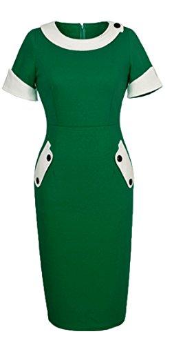 HOMEYEE Women's Vintage Cotton Bodycon Pencil Dress U832 0