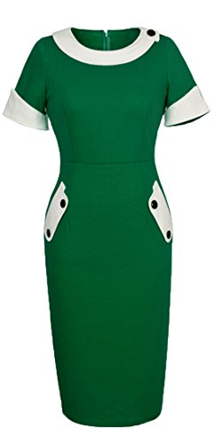 Homeyee Women's Vintage Cotton Bodycon Pencil Dress U832