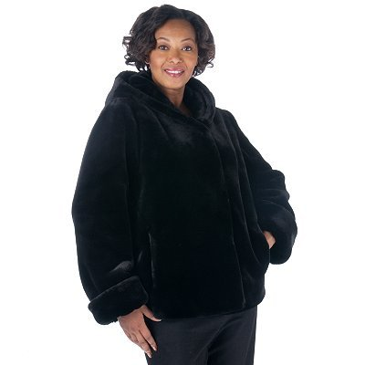 Buy Pamela McCoy Hooded Seal Faux Fur Coat