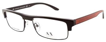 Armani Exchange 157 Eyeglasses (0GN5) Semimatte Brown, 53 mm
