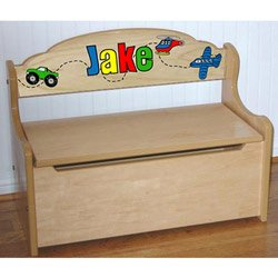 Personalized Natural Deacon Toy Bench - Size: Small