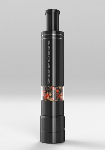 Salt grinder and pepper mill made from durable stainless steel unique modern - Novelty pepper mill ...